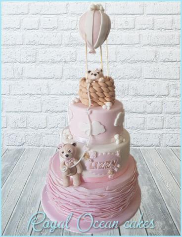 Luchtballon beer baby taart