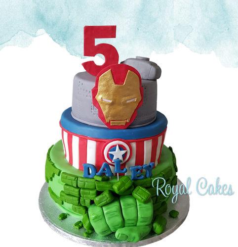 Marvel taart