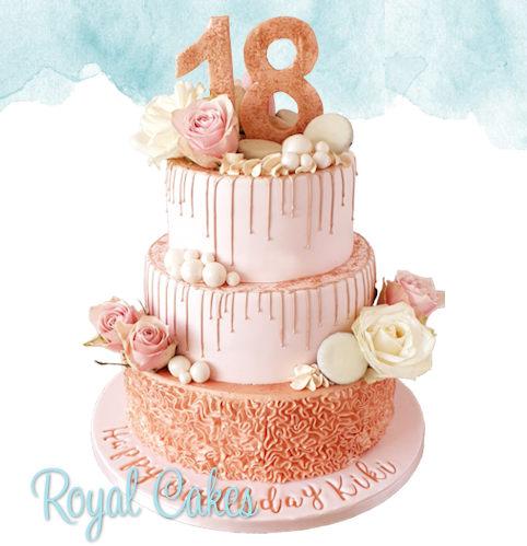 Beautiful 18 taart