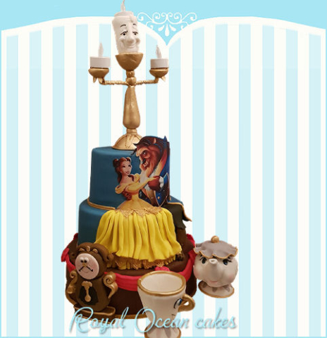 Beauty and the Beast taart