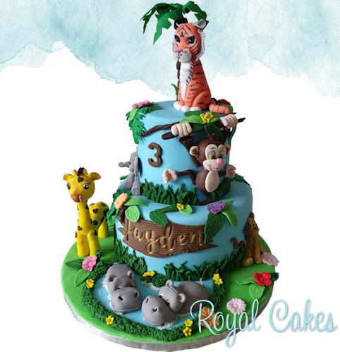 Jungle dieren taart